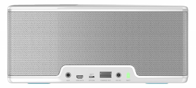 White Riva Turbo X Bluetooth Speaker Rear View
