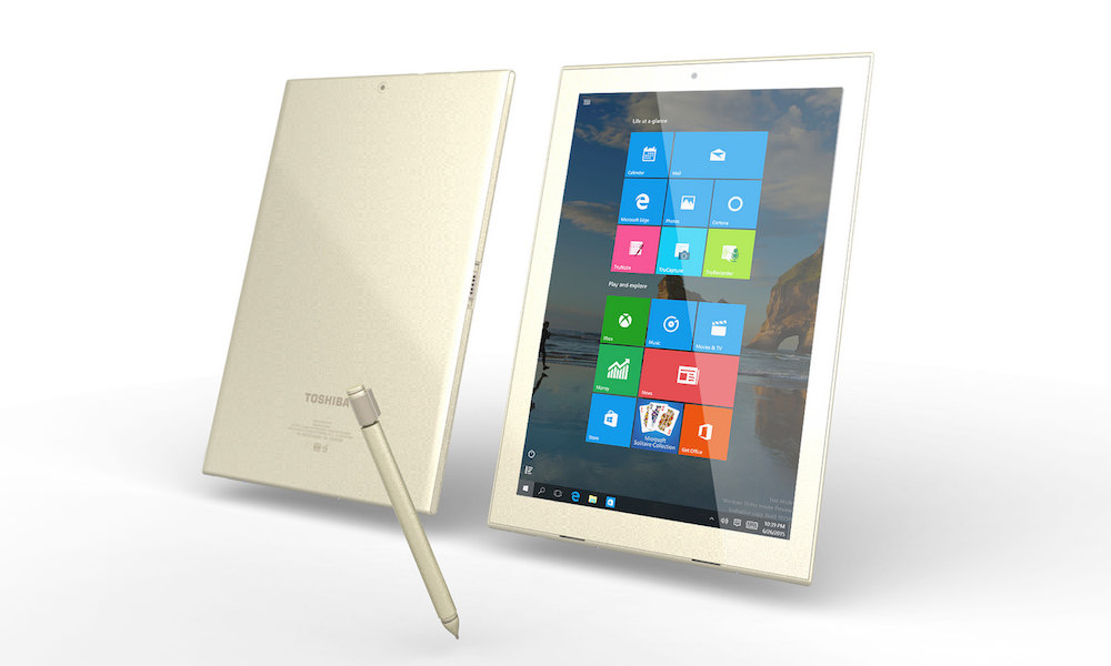 Toshiba dynaPad Tablet - Front and Back