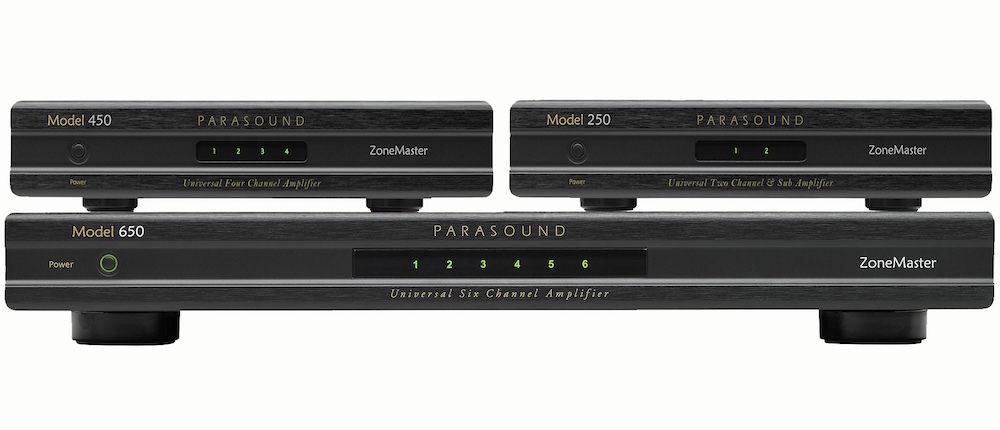 Parasound ZoneMaster 250, 450, 650 Amplifiers