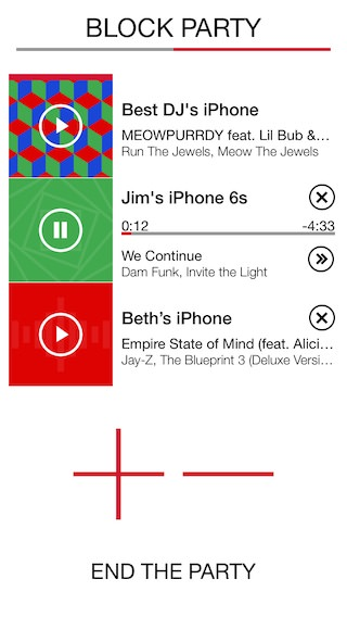 Ultimate Ears Block Party App Screenshot