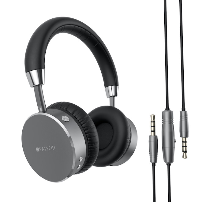 Satechi Aluminium Wireless Headphones Space Grey