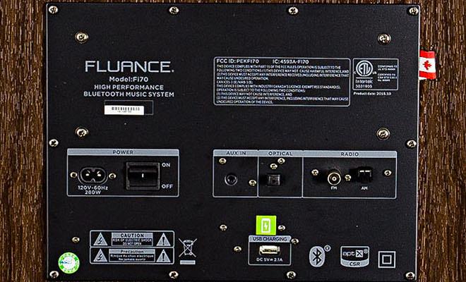 Fluance Fi70 inputs