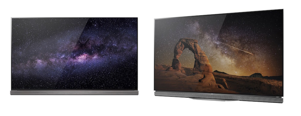 LG G6 (left) and LG E6 (right) OLED TVs for 2016