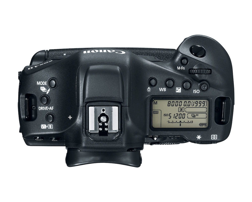 Canon EOS-1D X Mark II DSLR top