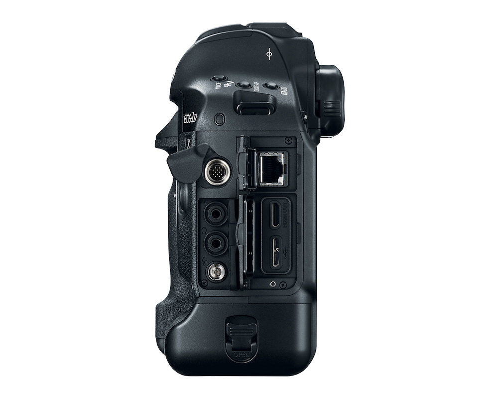 Canon EOS-1D X Mark II DSLR left side open