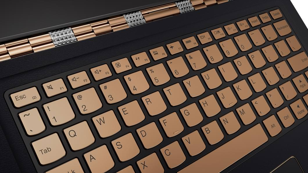 Lenovo YOGA 900S gold keyboard