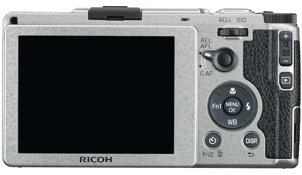 Ricoh GR II Silver Edition Back