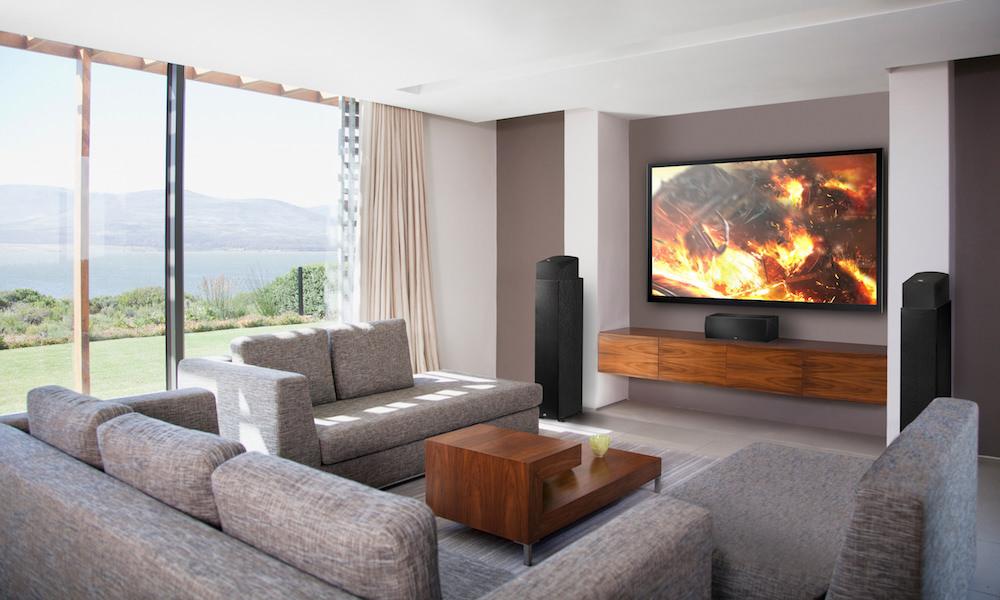 PSB Speakers Imagine XA Dolby Atmos Speaker Module in Living Room