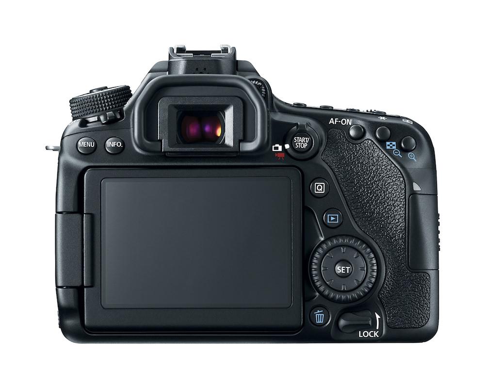 Canon EOS 80D DSLR camera - Back View