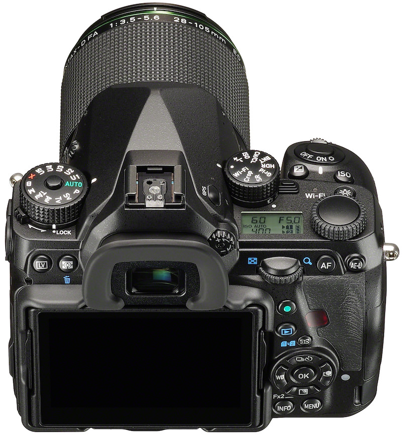 PENTAX K-1 DSLR - Top Back View