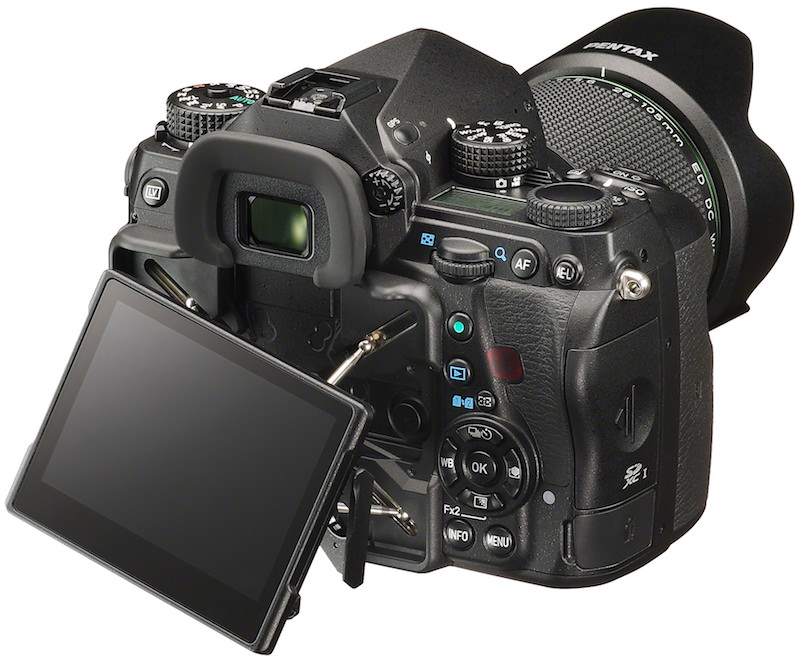 PENTAX K-1 DSLR - Back View with Screen Out