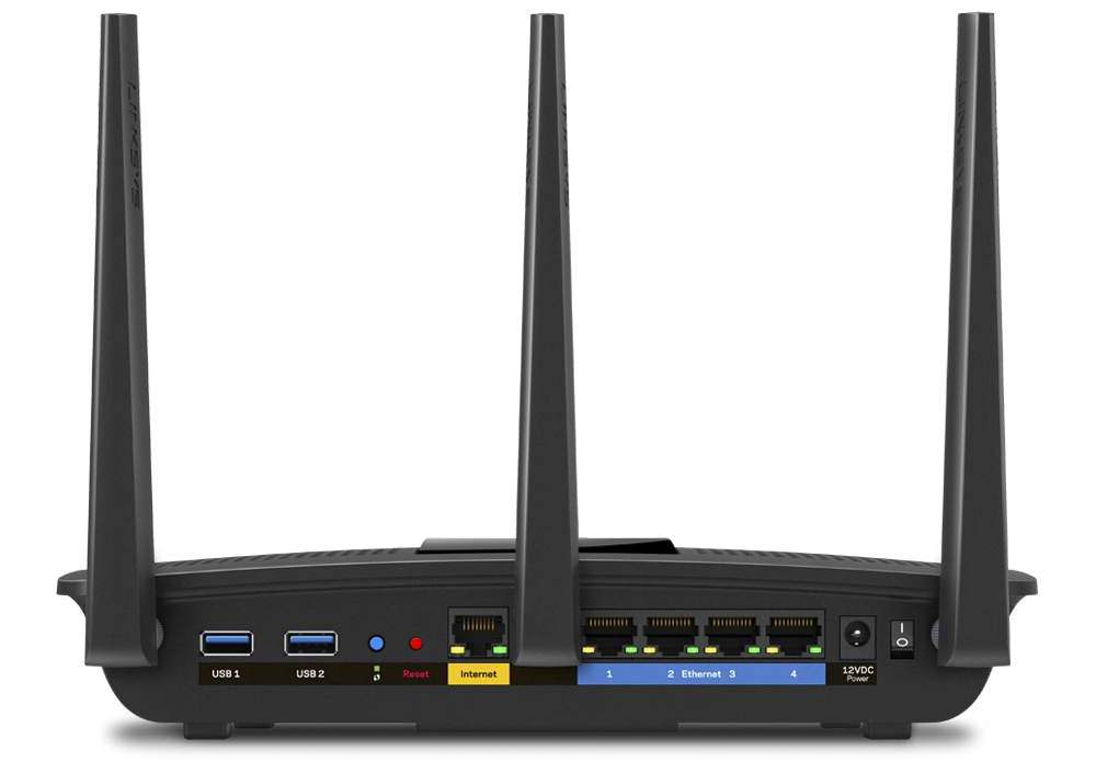 Linksys EA7500 - Back View