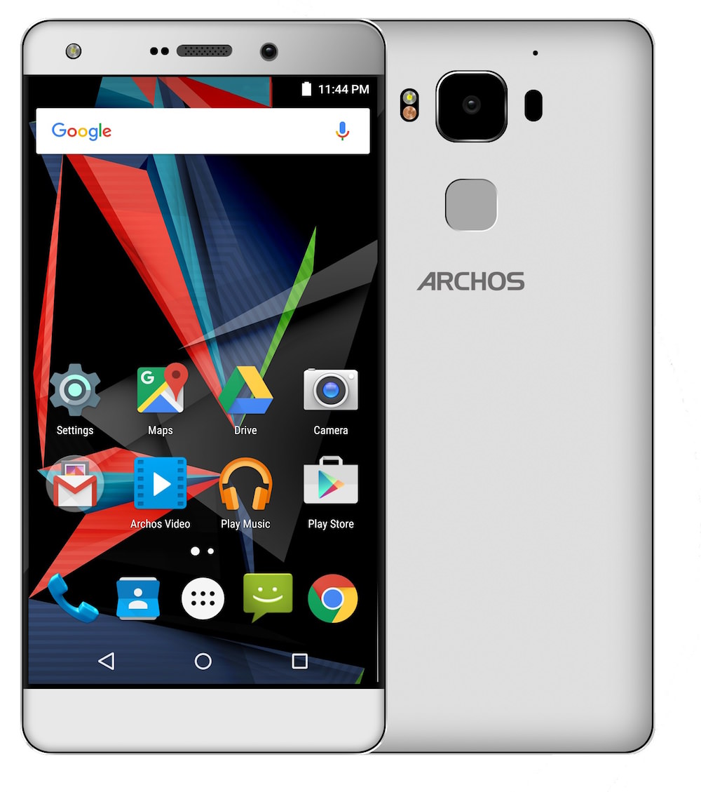 ARCHOS Diamond 2 Plus - Silver Front and Back Views