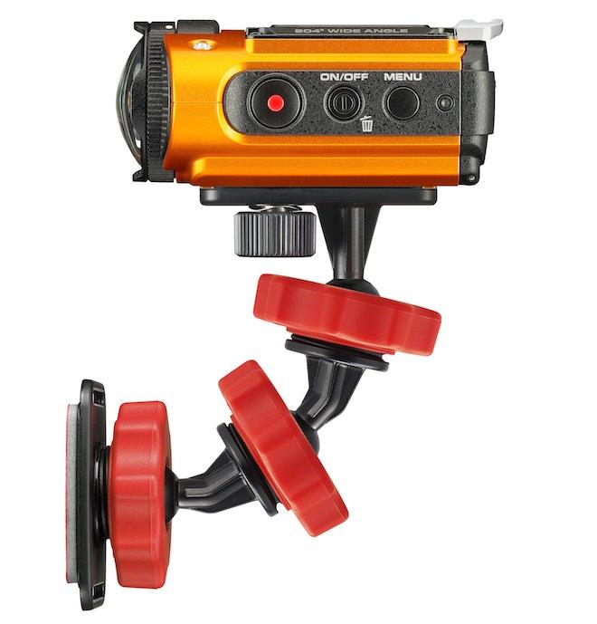 Ricoh WG-M2 mounted