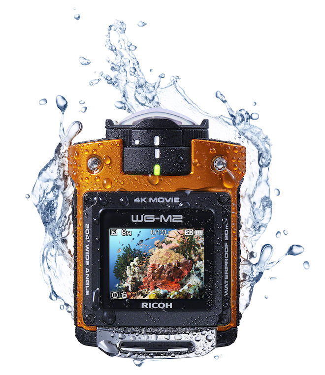 Ricoh WG-M2 in water