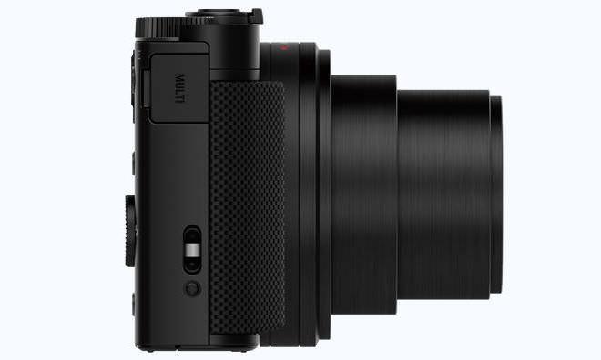 Sony DSC-HX80 side view