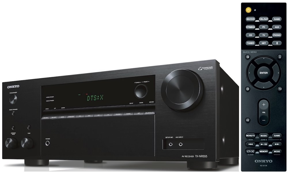 Onkyo TX-NR555 A/V receiver with RC-911R remote