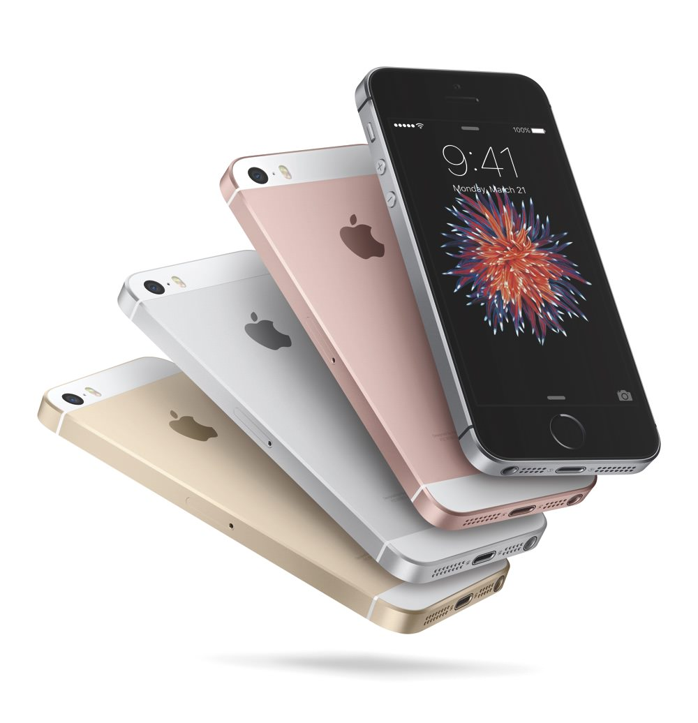 Apple iPhone SE color fan