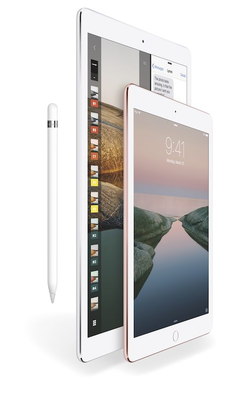 Apple iPad Pro models with Pencil
