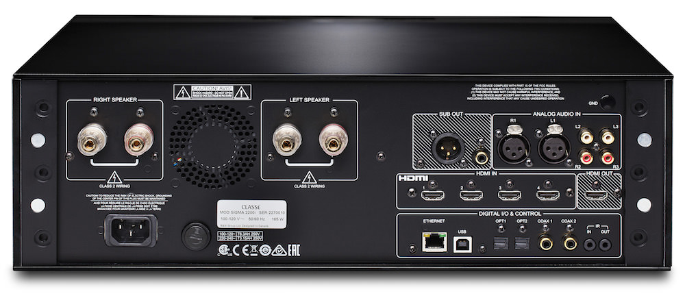 Classe Sigma 2200i Stereo Integrated Amplifier - back