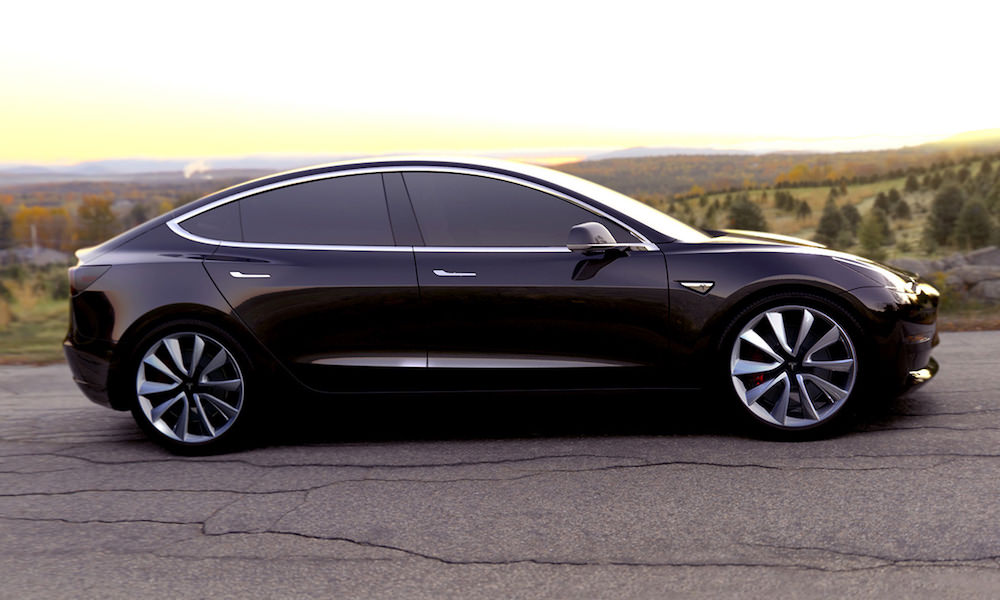 Tesla Model 3 Black - Side View