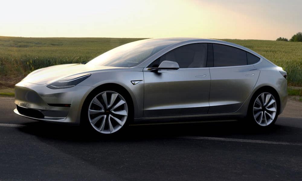 Tesla Model 3 Silver - Angle View