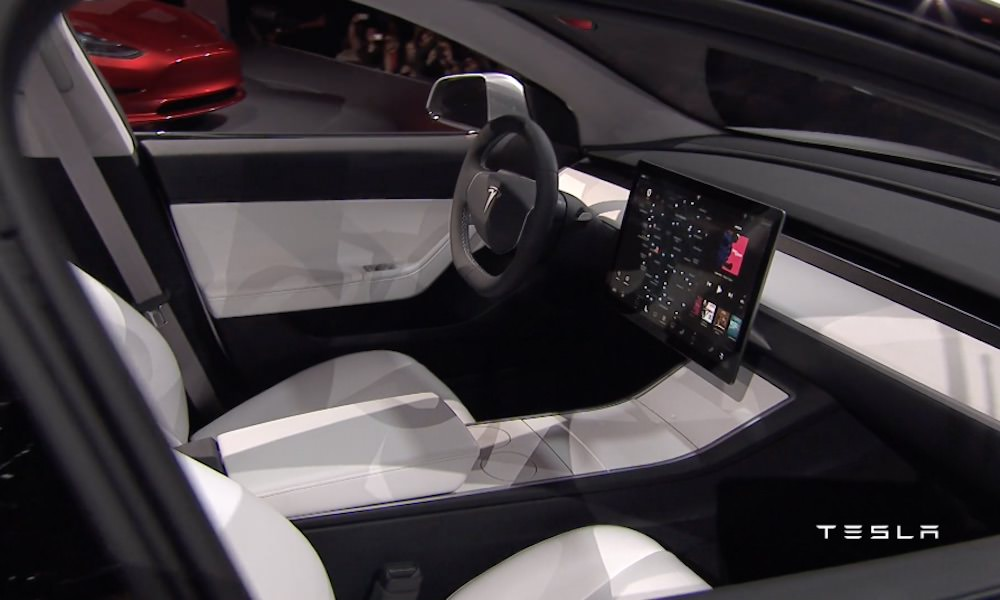Tesla Model 3 - Interior Touchscreen Display