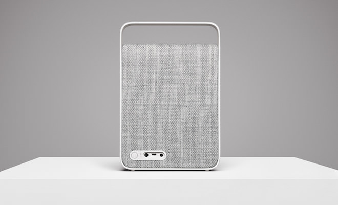 Vifa Oslo Ocean Blue Wireless Speaker - Pebble Gray Back
