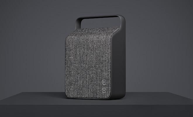 Vifa Oslo Ocean Blue Wireless Speaker - Anthracite Grey Front