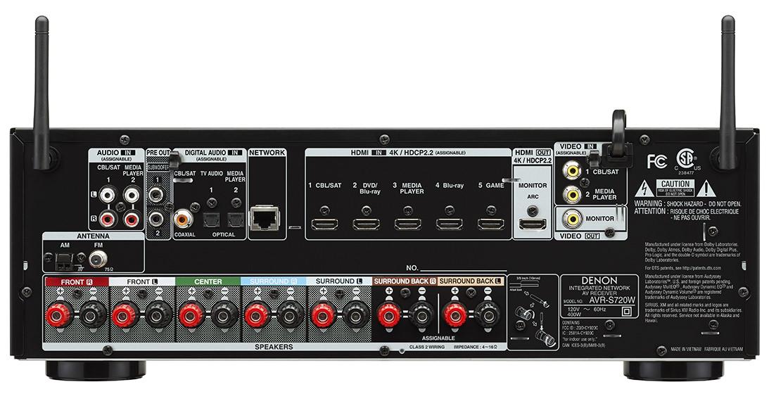Denon AVR-S720W - back