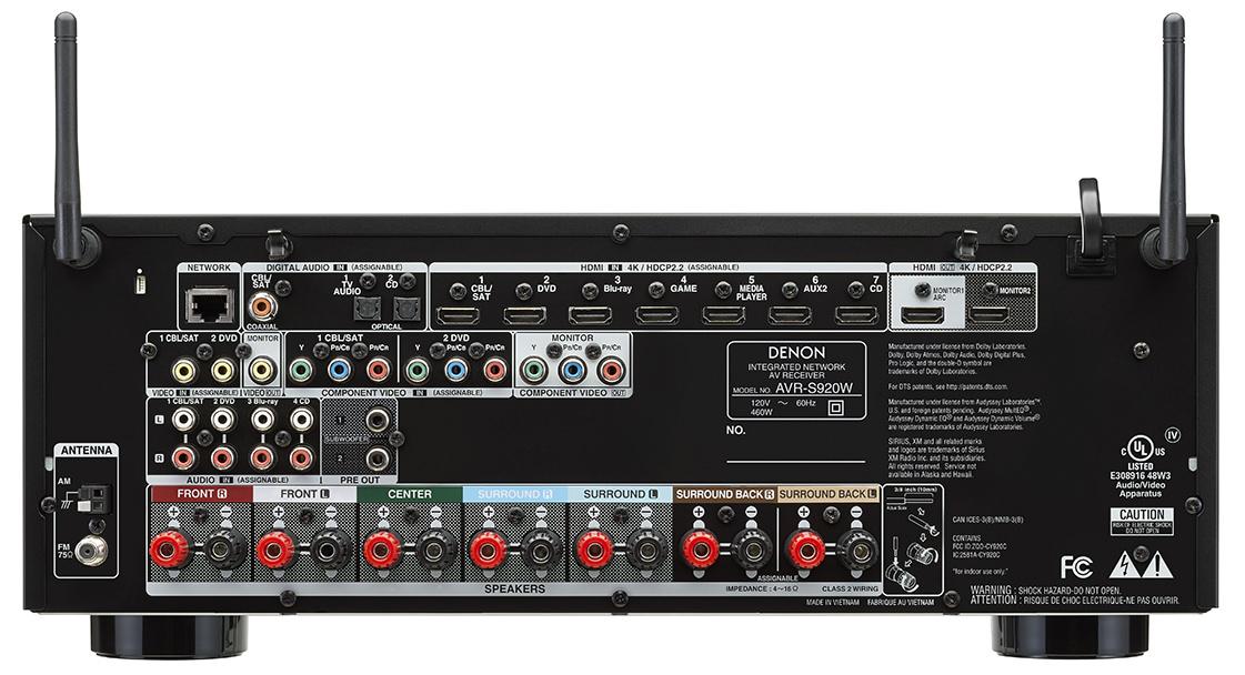 Denon AVR-S920W - back