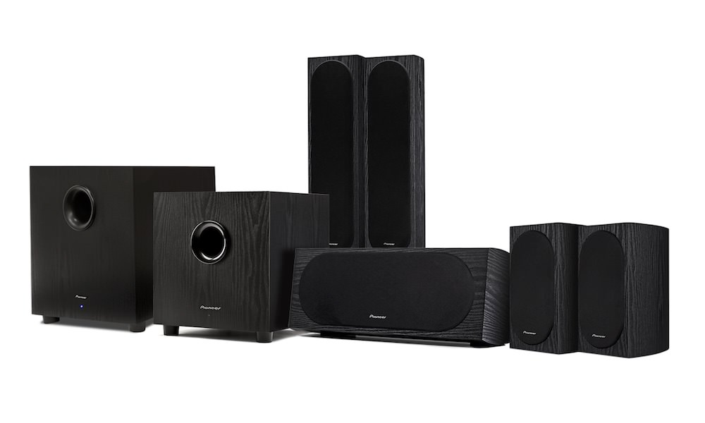 Pioneer Home Theater Speaker System with SW-10 Subwoofer (left)