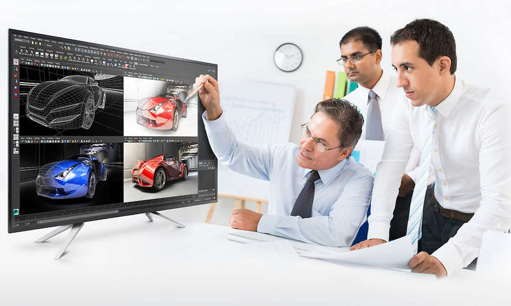 Philips BDM4350UC 4K Monitor with people