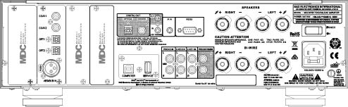 NAD M32 Rear Panel Drawing