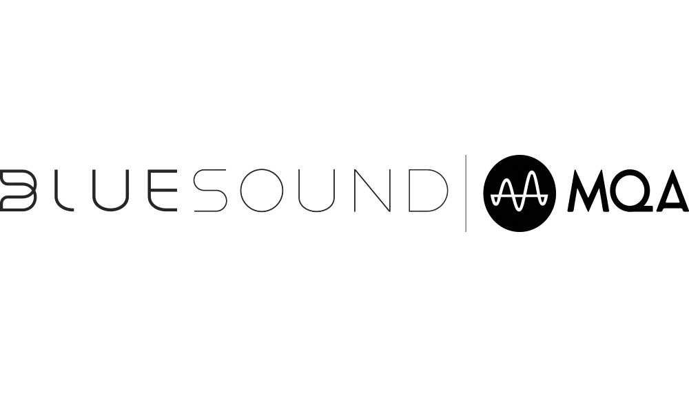 Bluesound | MQA logos