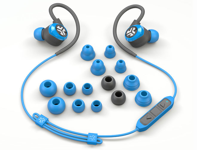 JLab Epic2 Blue with earbuds
