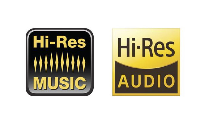 Hi-Res MUSIC and AUDIO logos