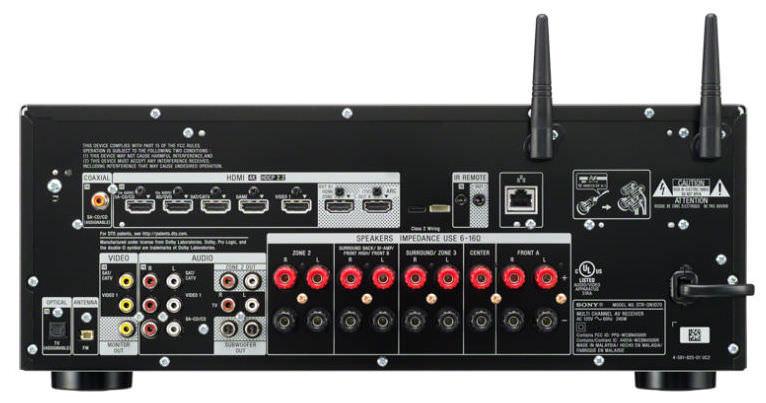 Sony STR-DN1070 A/V Receiver - Back