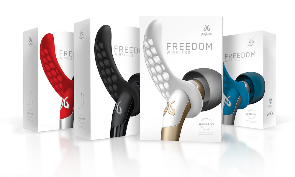Jaybird Freedom Wireless Bluetooth Buds Packages and Colors