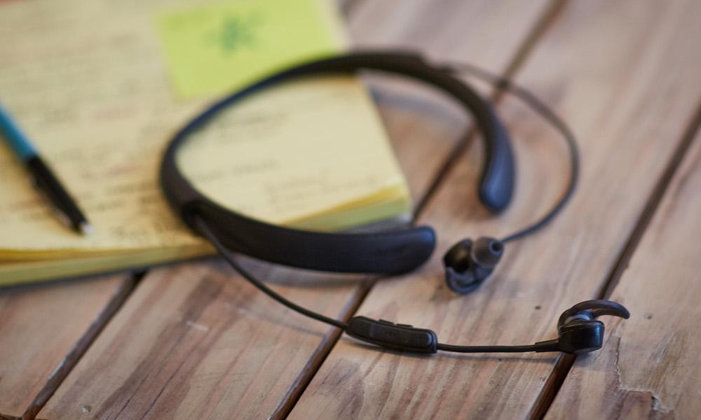 Bose QuietControl 30 Wireless Earphones on table