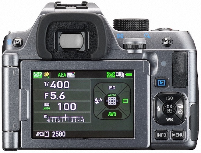 PENTAX K-70 DSLR camera rear view