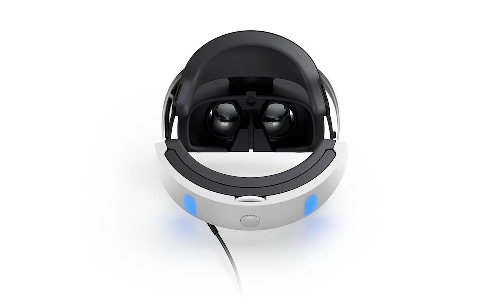 Sony PlayStation VR back top view