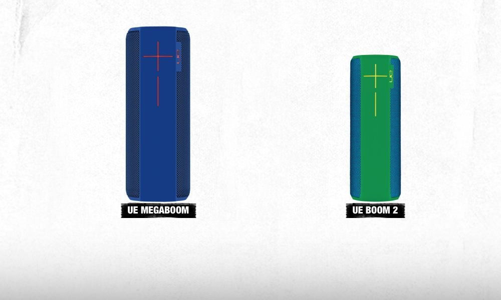 UE MEGABOOM and BOOM 2