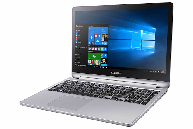 Samsung Notebook 7 spin open
