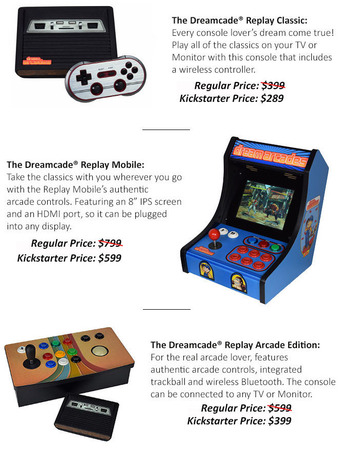 Dreamcade Replay Kickstarter Offers