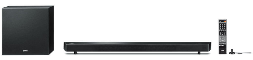 Yamaha YSP-2700 sound bar with wireless subwoofer, remote, mic