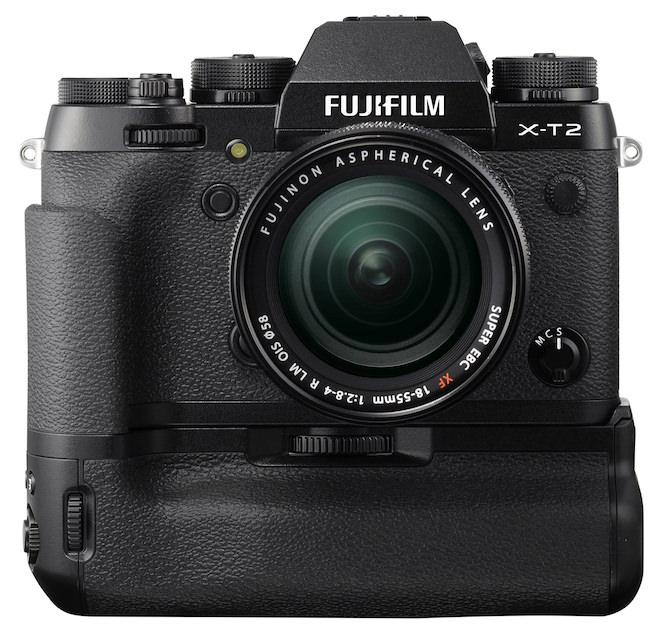 FujiFilm XT-2 with Vertical Power Booster Grip (optional VPB-XT2)