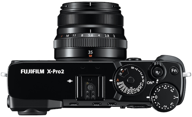 FujiFilm X-Pro2 Rangefinder Digital Camera Top View