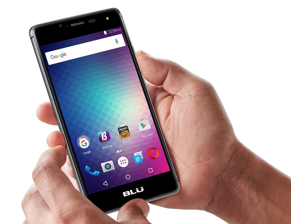 BLU R1 HD Smartphone in hand