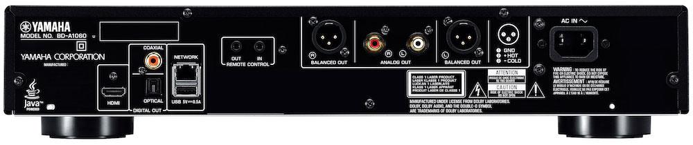 Yamaha AVENTAGE BD-A1060 Blu-ray Player Back